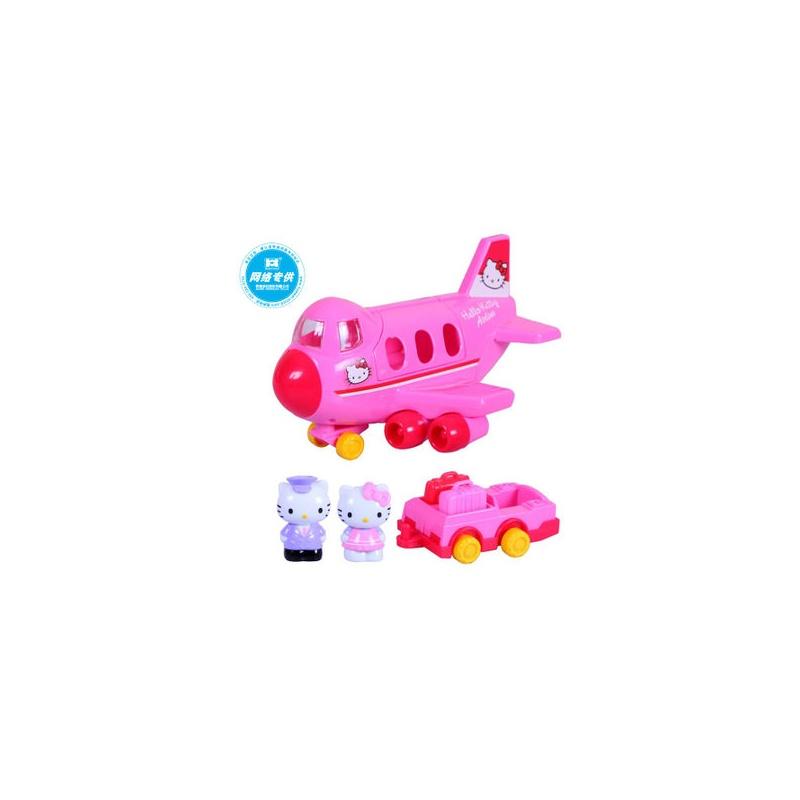 hello kitty凯蒂猫早教益智婴幼儿女孩过家家玩具礼物含客机套装