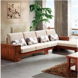 实木沙发 胡桃木组合沙发