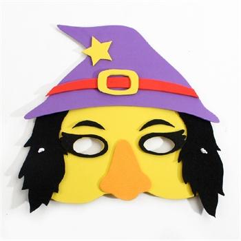 艺趣幼儿手工制作万圣节eva面具儿童diy自制玩具万圣