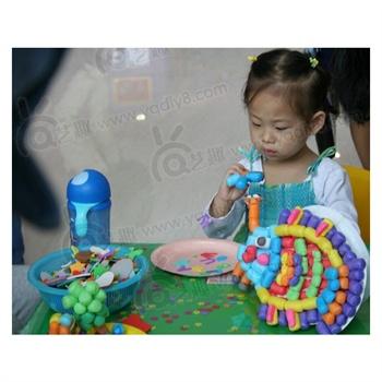 幼儿园手工材料儿童diy制作玩具创意魔法玉米粒1公斤