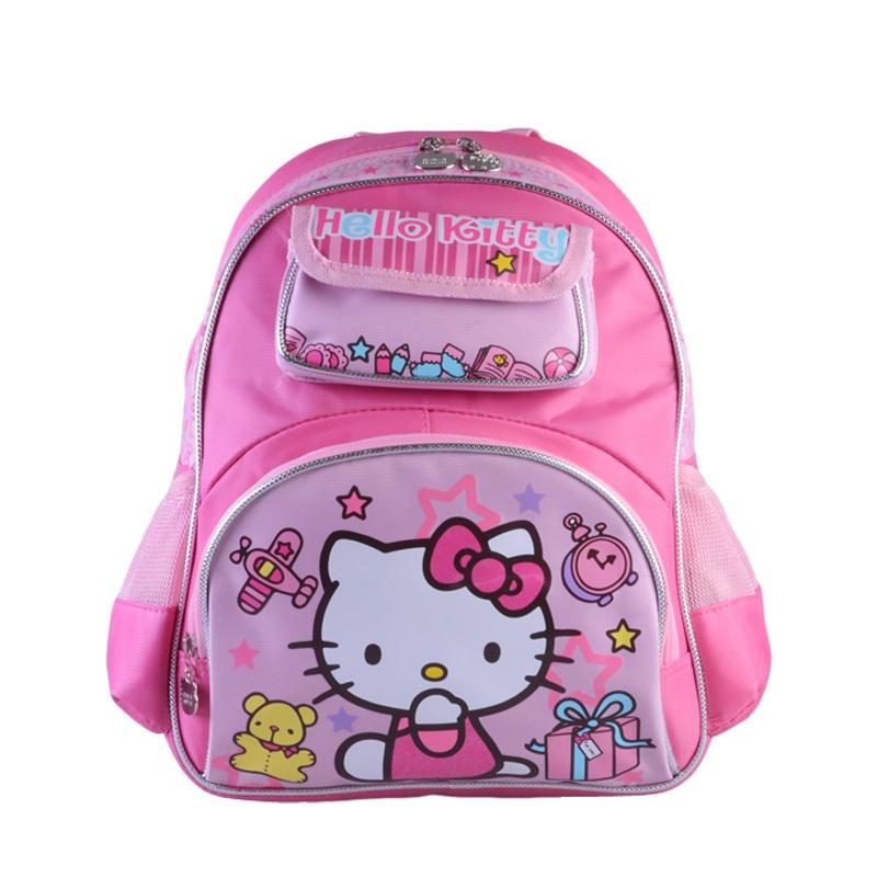 富乐梦 hello kitty凯蒂猫 可爱卡通幼儿双肩学生书包 背包-红色 cc