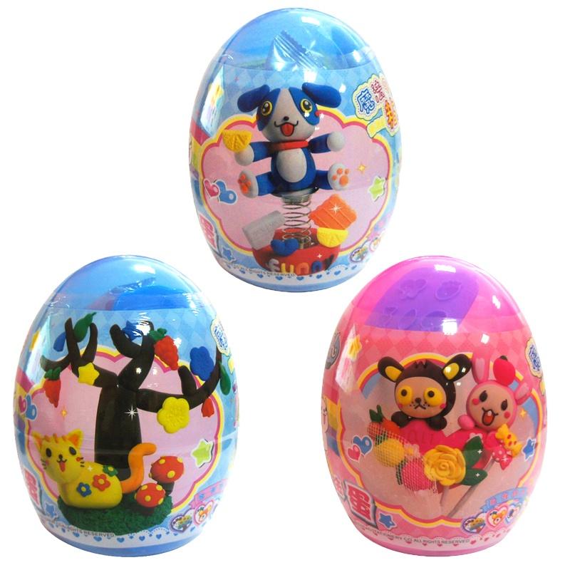 儿童智高手工彩泥套装魔法蛋套装3d轻质彩泥魔法粘土儿童益智玩具_三