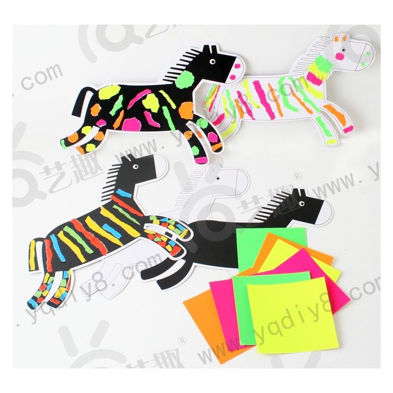幼儿手工材料diy儿童手工制作幼儿手工diy新年手工-撕纸小马-神马