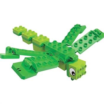 培培乐(peipeile)鳄鱼与蜻蜓儿童益智早教乐高式积木