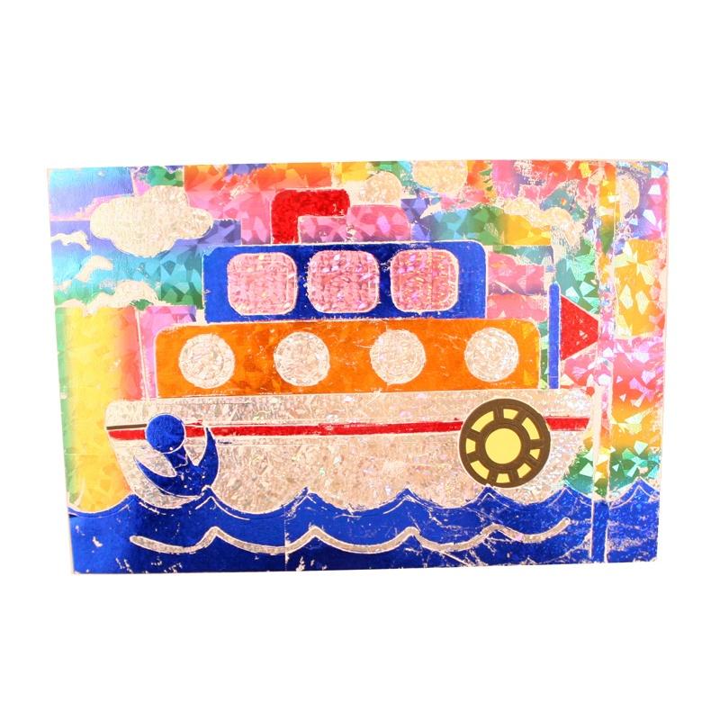 【艺趣手工diy】幼儿园手工材料镭射贴纸画儿童diy无