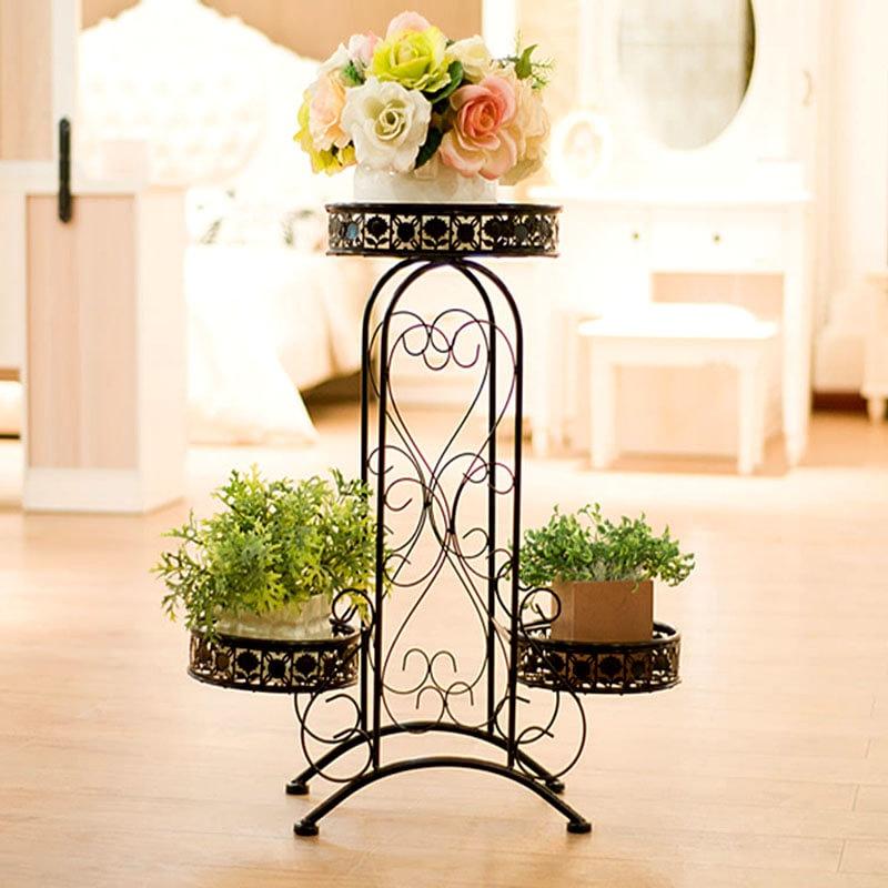 铁艺花架室内落地吊兰盆景架阳台多层花盆架免安装