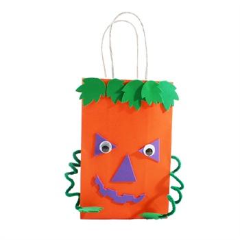 幼儿园万圣节南瓜巫师灯笼艺趣diy儿童手工玩具疯狂礼品纸袋材料图片