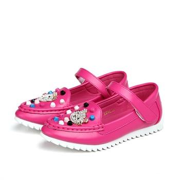 奔仔童鞋2015春新款女童单鞋学生可爱水钻韩版公主鞋休闲儿童皮鞋
