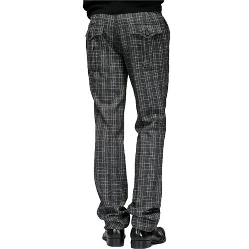 春装新款 gxg 正品 男士灰白格修身格纹修身休闲长裤