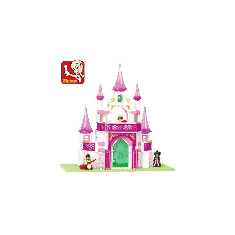 小鲁班益智积木 乐高式拼装积木 益智拼插玩具公主城堡271片 多拼装
