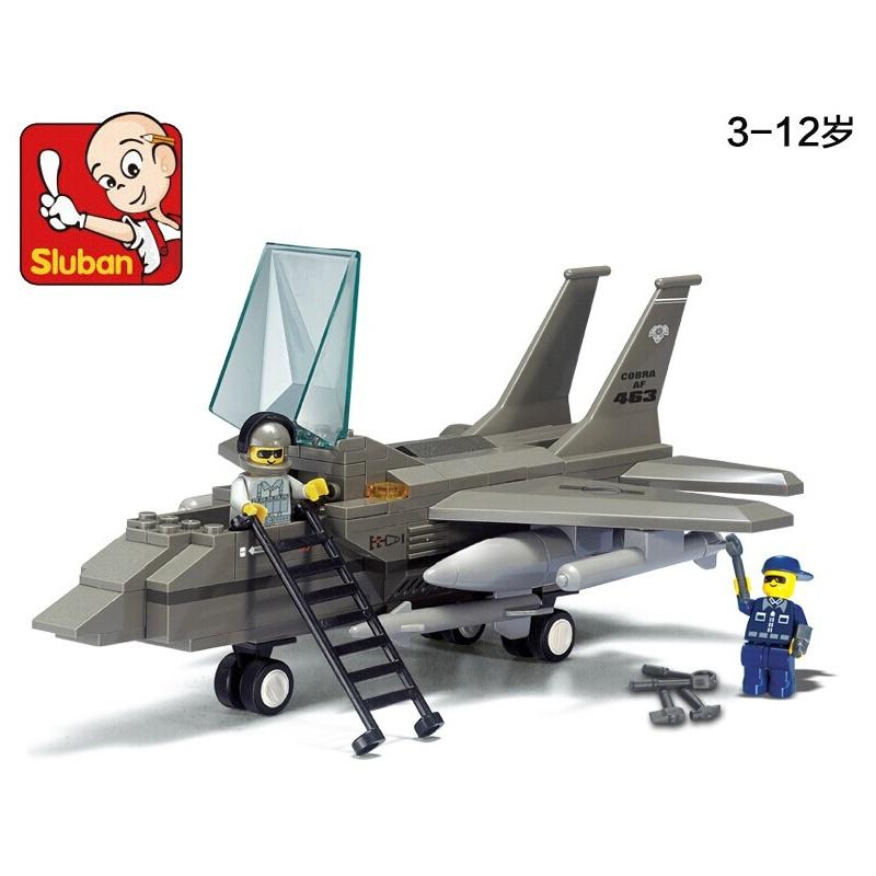 小鲁班积木 超音速战斗机 乐高式积木塑料拼插