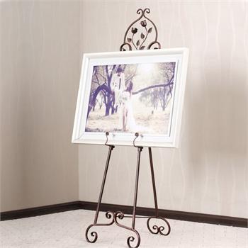 果漫欧式铁艺油画架落地展示架支架相框架子照片托架