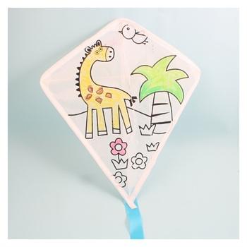 儿童手工制作空白手绘风筝绘画风筝diy风筝小型风筝
