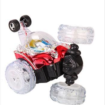 遥控翻滚带充电儿童玩具车