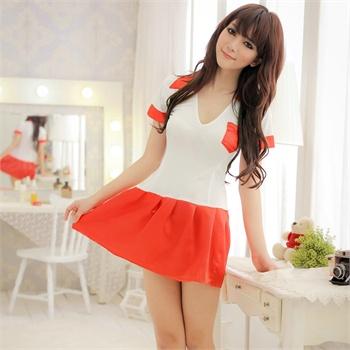 情趣内衣成人用品可情趣学生装两件套红色超短裙上衣短裙v情趣软件买去爱女哪个衣服图片