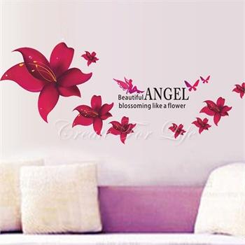 美丽天使墙贴可移除墙壁装饰画墙纸客厅卧室床头家居