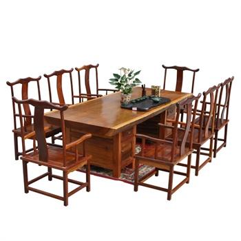 茶桌套装 实木大板桌 原木办公桌
