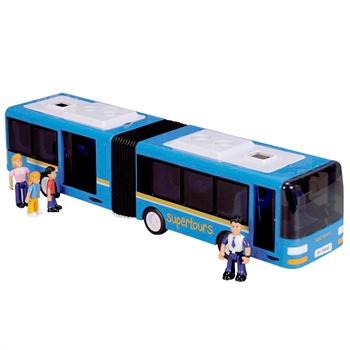 德国simba 儿童车模玩具经典超大双节公交巴士汽车惯性玩具