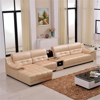 御品工匠 真皮沙发 头层牛皮 忠厚皮质 皮艺沙发简约现代客厅组合转角