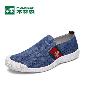 木林森男鞋 正品 2014年夏季新款韩版休闲帆布鞋
