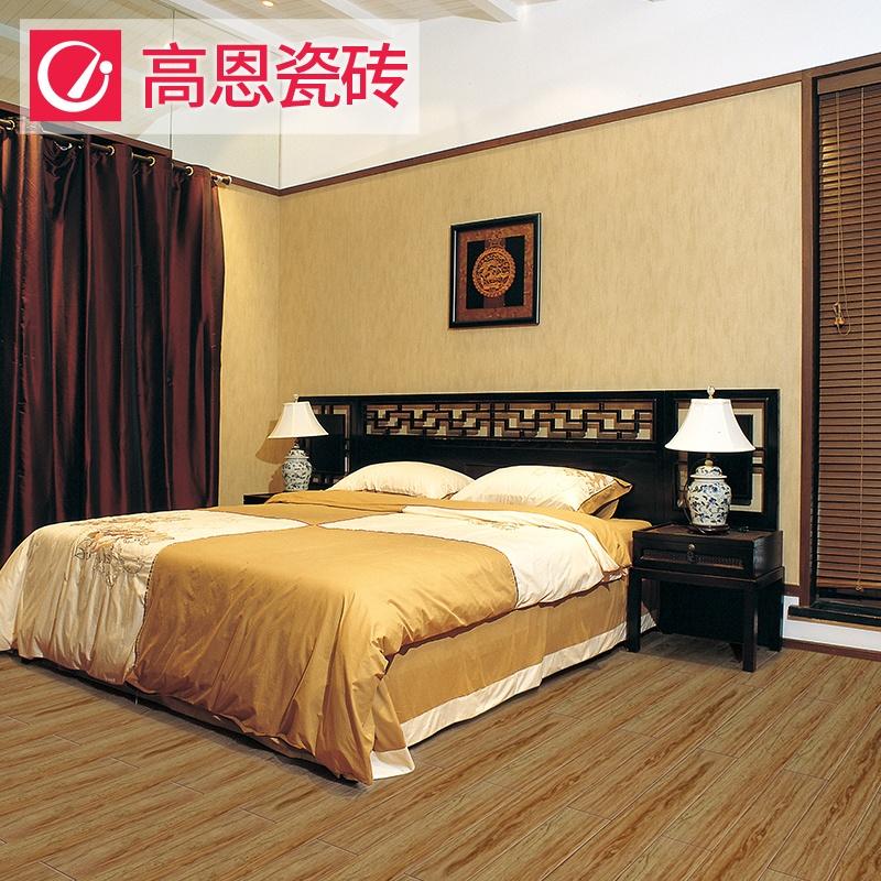 高恩3d喷墨仿古木纹地砖 卧室仿实木地板砖 瓷砖客厅木纹地板砖