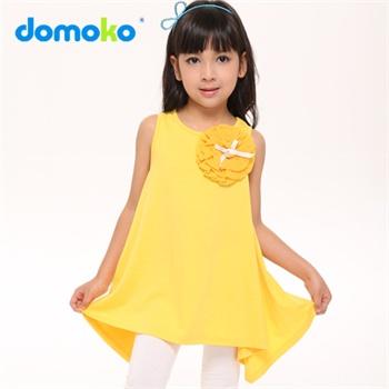 新款儿童甜美裙子纯色