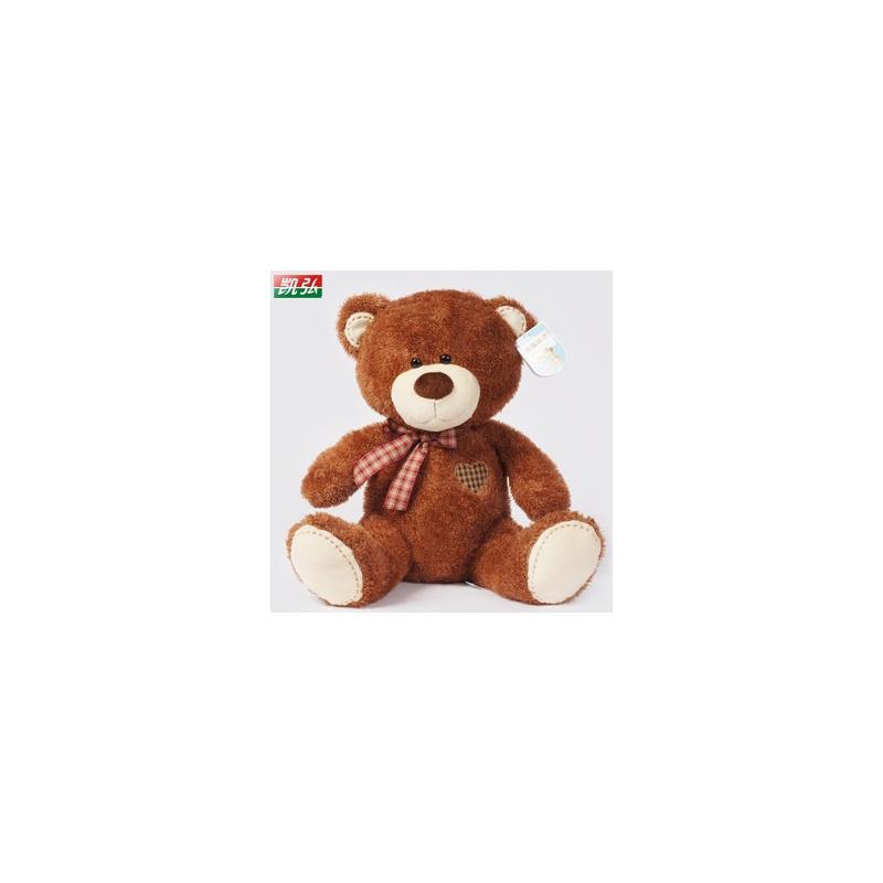 毛绒玩具泰迪熊 萌可爱熊公仔大号 抱抱熊布娃娃 女生生日礼物_深棕色