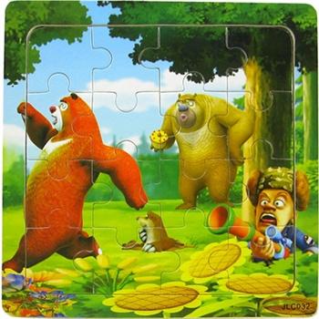 9片16片儿童木制拼图卡通动物木质拼板宝宝