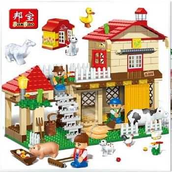 乐高式房屋拼装积木