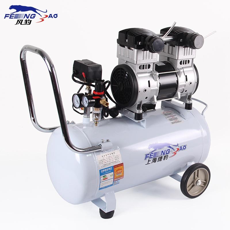 上海捷豹3540静音无油空压机1.2kw小型气泵木工喷漆气泵空压机