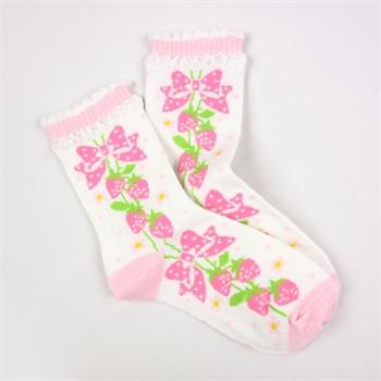new feona/纽菲奥纳 可爱公主漂亮儿童棉袜 舒适精梳棉学生袜子多色