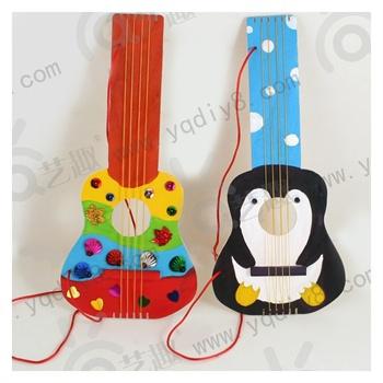 幼儿园手工材料diy儿童手工制作幼儿手工diy木质吉他