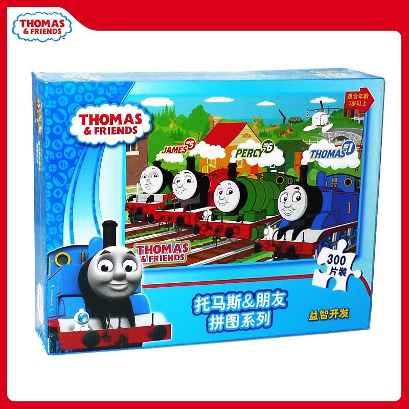 正品托马斯小火车300片平面纸质盒装拼图 儿童益智玩具拼板