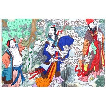 苏绣礼品 软表画 中国特色礼品 中国风元素画 八仙图