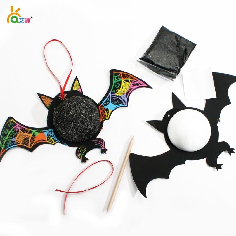手工制作刮刮卡蝙蝠画儿童