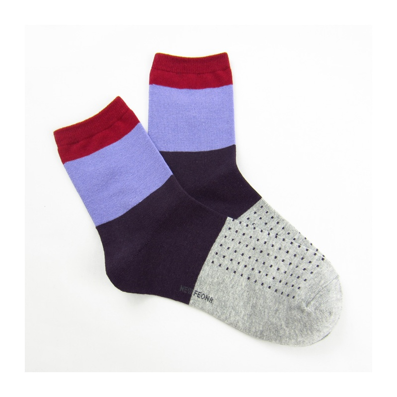 【女士棉袜 韩国可爱圆点精梳棉袜子