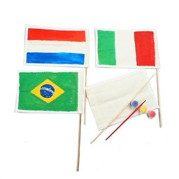 艺趣幼儿园手工制作旗帜儿童手工自制diy玩具创意涂色