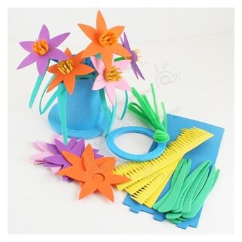 教师节礼物幼儿园手工制作立体百合花送老师儿童自制图片