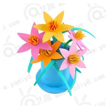 教师节礼物幼儿园手工制作立体百合花送老师儿童自制