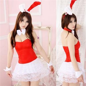 女士情趣内衣 兔女郎游戏制服 性感可爱公主套装 F69 送头饰 丁字裤
