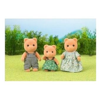 正版日本森贝儿 森林家族系列 动物玩偶 礼物 女孩孩子_熊宝宝家族