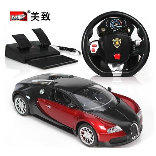mz美致无线遥控汽车可充电遥控赛车布加迪威龙玩具车重力感应超大漂移