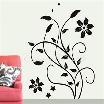 柔软花蔓墙贴可移除墙壁装饰画墙纸客厅卧室床头家居
