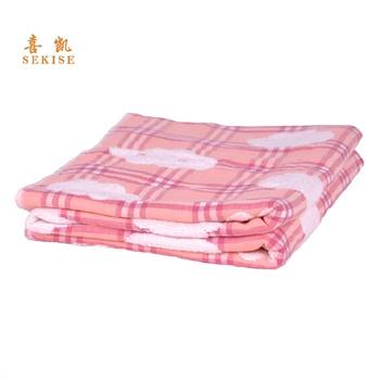 喜凯幼儿园婴童双面毛巾被大浴巾纯棉纱布柔夏季空调休闲盖毯 sd9239