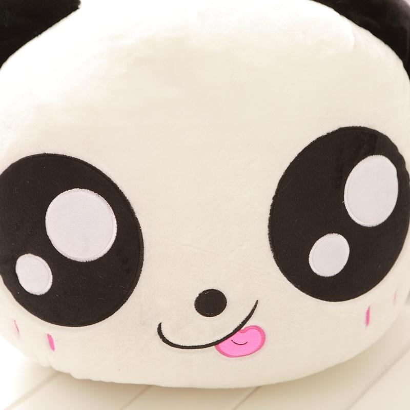 可爱趴趴熊猫大号毛绒玩具熊猫公仔娃娃抱枕玩偶 多表情款 _大眼吐舌