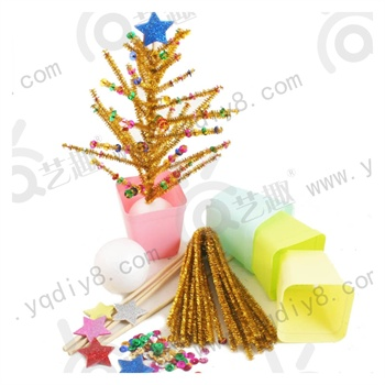 幼儿手工材料手工diy儿童手工制作-新年发财树-摇钱树