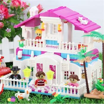 邦宝塑料拼装积木吊车益智别墅拼插图片玩具积木战士a塑料正品玩具玩具女孩儿童图片