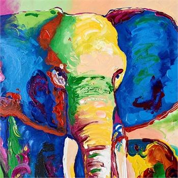 非洲象手绘彩铅