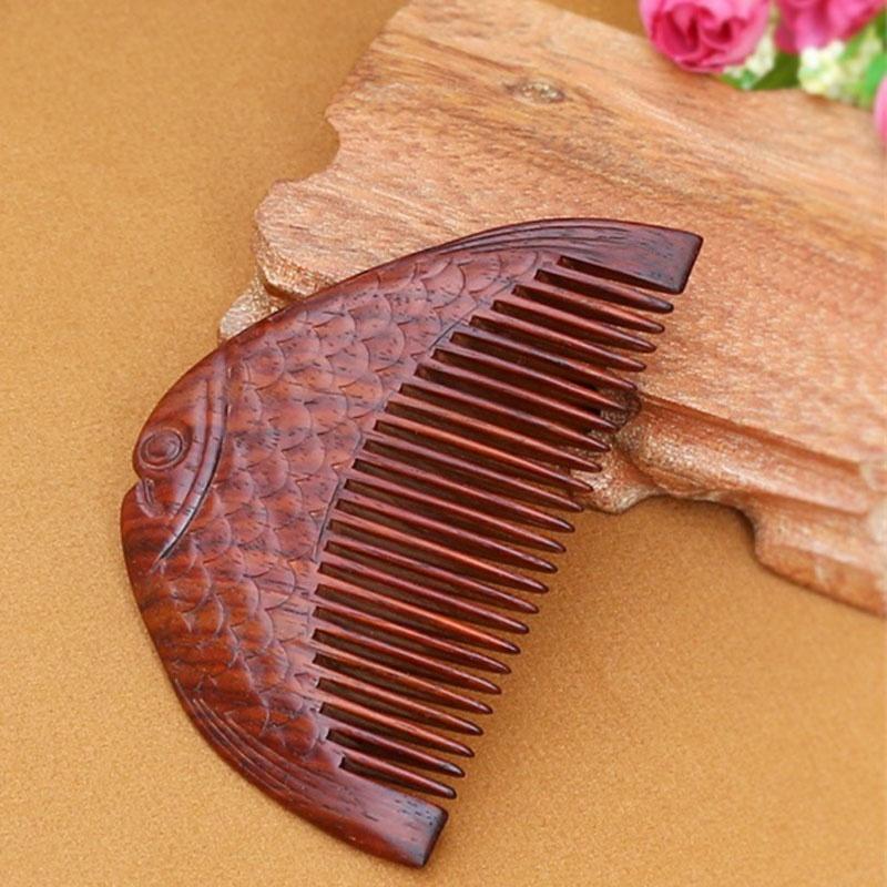 馨怡阁 木梳子 红木梳子 手工工艺 保健按摩 雕刻工艺 红木06