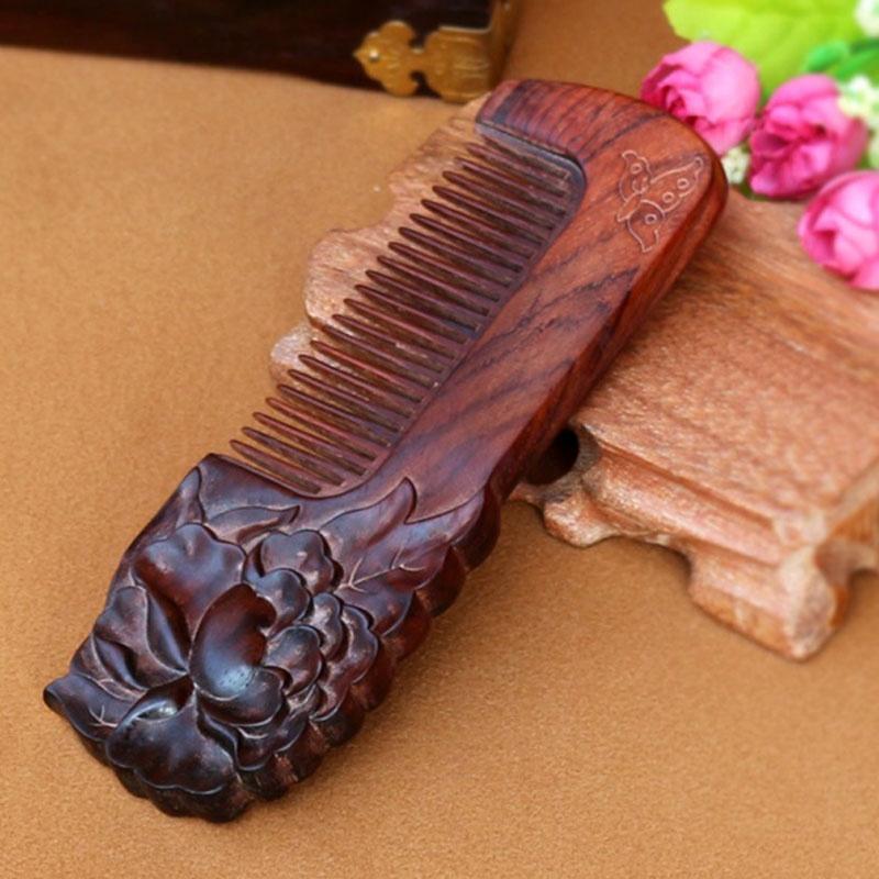 馨怡阁 木梳子 红木梳子 手工工艺 保健美发 造型工艺 红木梳25